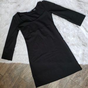 Black Office Career Work Quarter Sleeve Dress